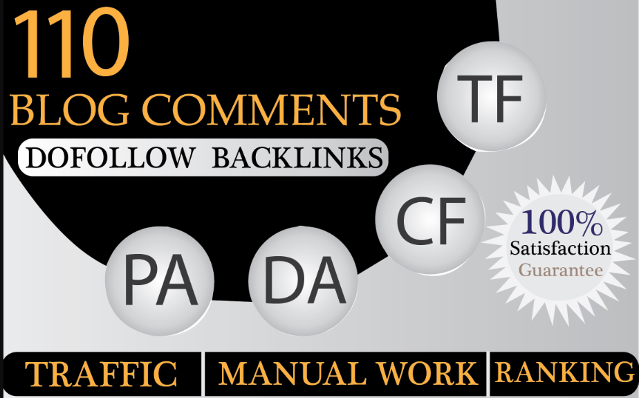 I will provide 110 dofollow blog comment backlinks off page seo