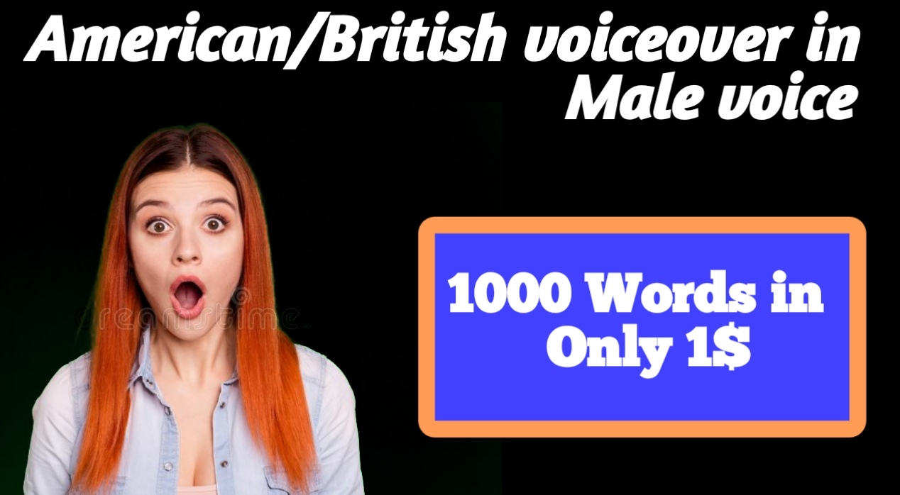I will make American or British male Voiceover for youtube or ather promotional places
