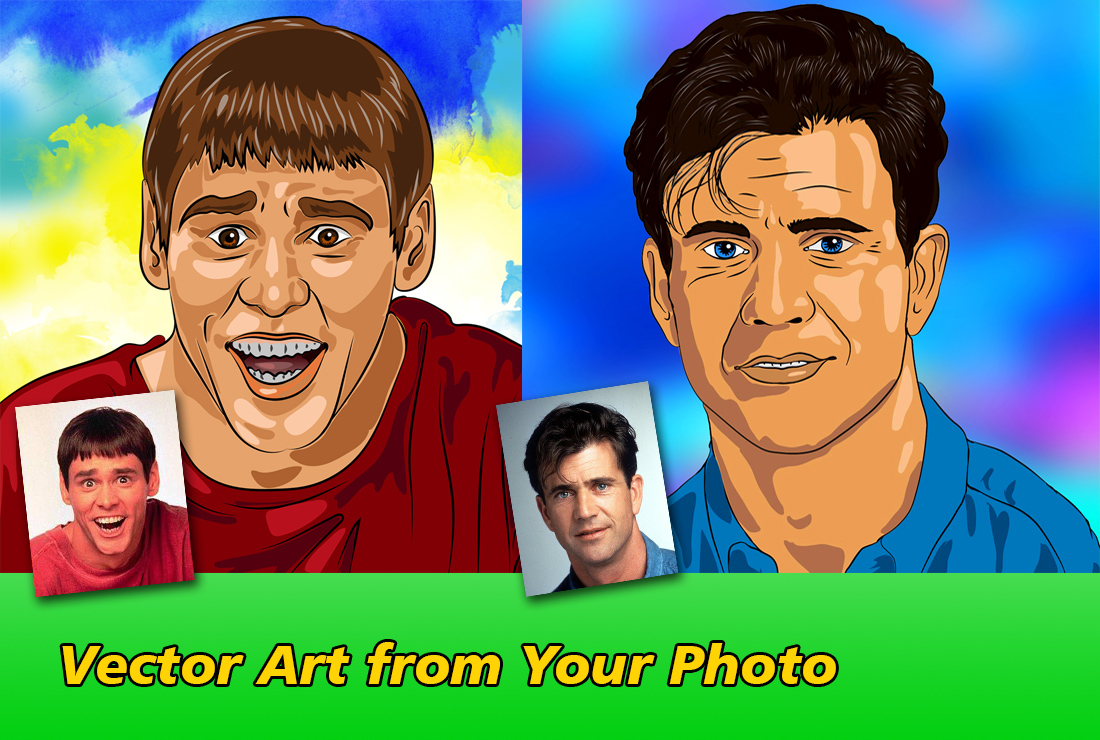 I will make a vector portrait from yout photo