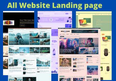 Landing page creation with responsive/Seo friendly on your website
