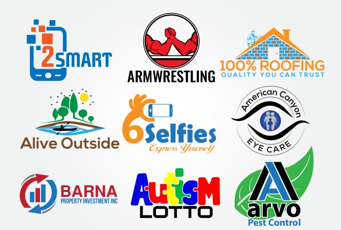 I will do 2 modern business logo design