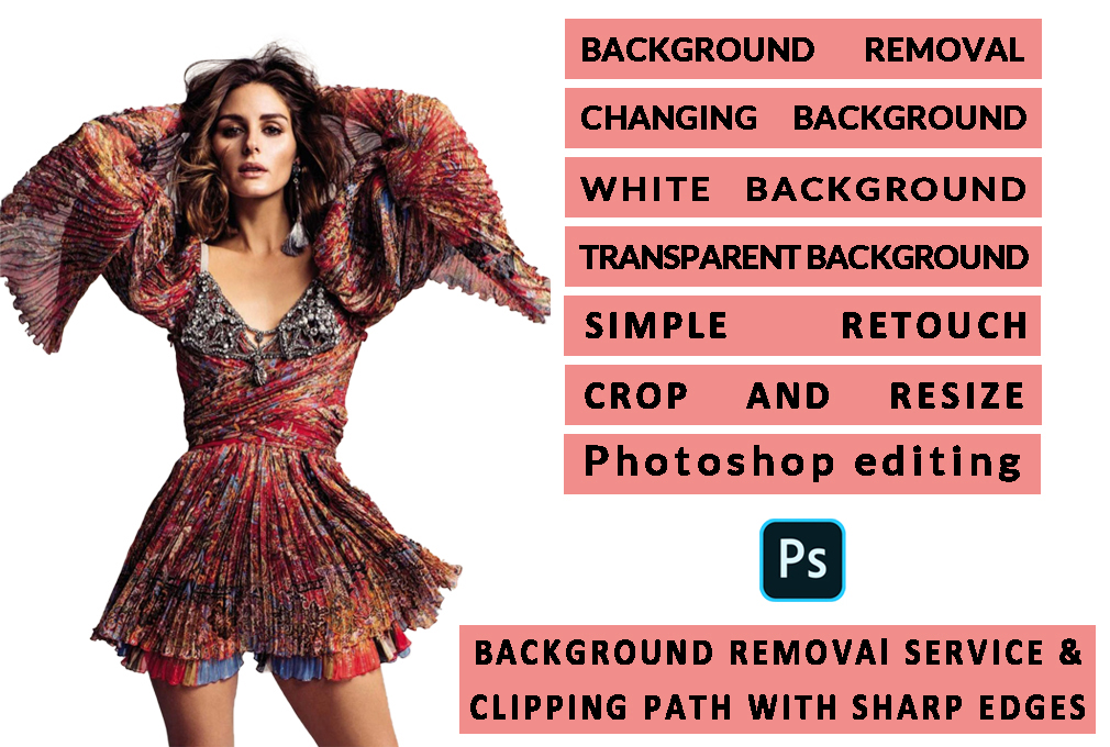 I Provide Background Removal clipping path service of 100 images