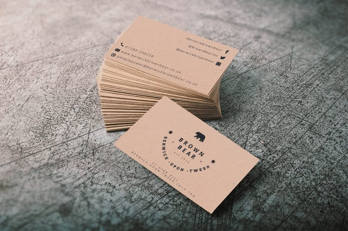I will design a striking business card
