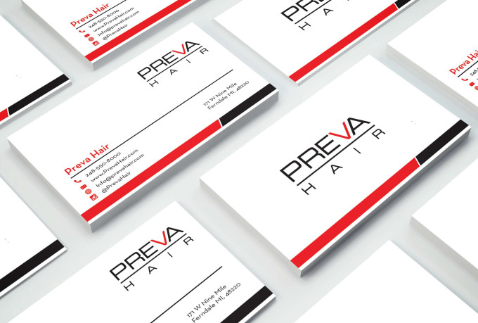 I will design a minimalistic business card for you