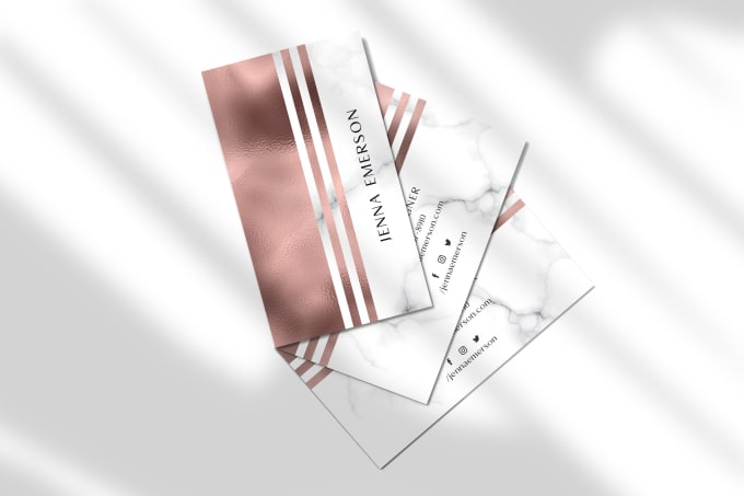 I will design elegant business or thank you card