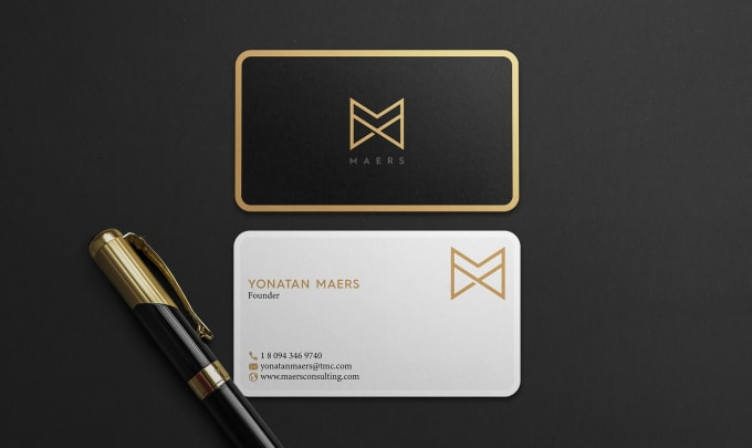 I will provide professional business card design services for you