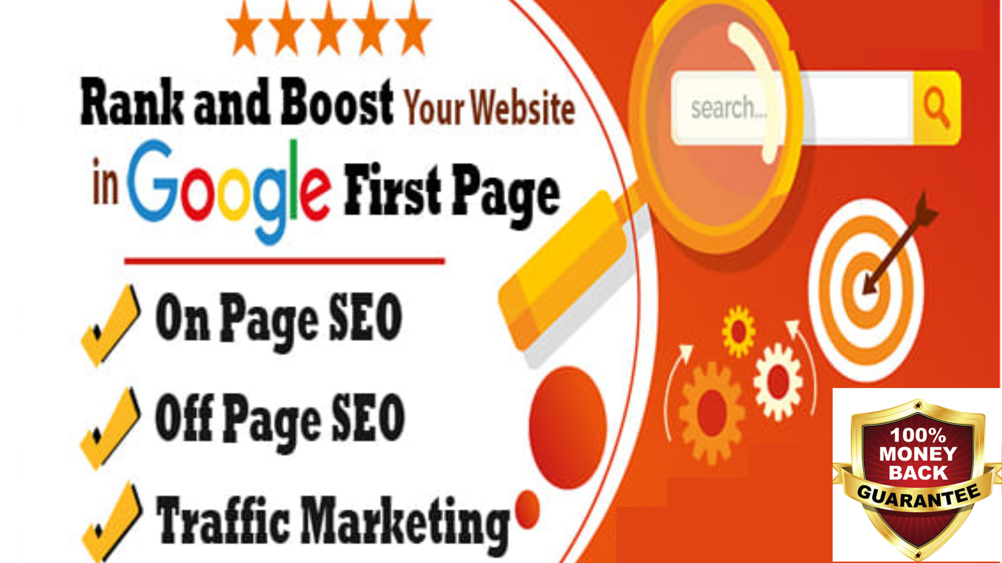 Monthly SEO Service with Backlinks for GOOGLE Top Ranking - 8 KEYWORDS