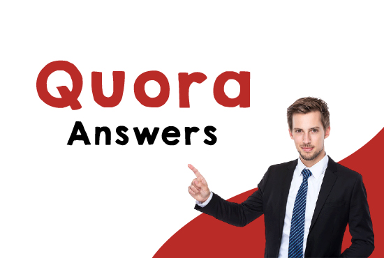 Guaranteed Offer Niche Relevant 20 Quora Answers with clickable backlinks