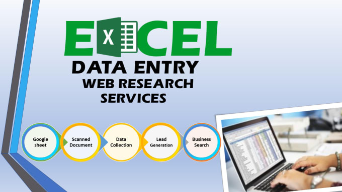 I will do data entry,  web research,  typing work,  copy paste,  excel data entry