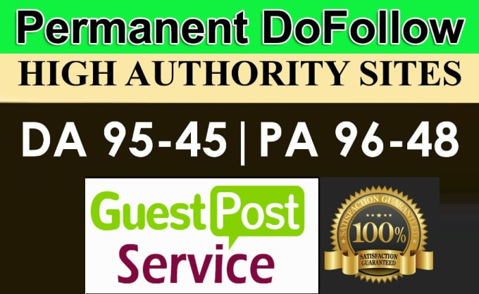 Permanent Guest Post on DA 90 with dofollow backlink