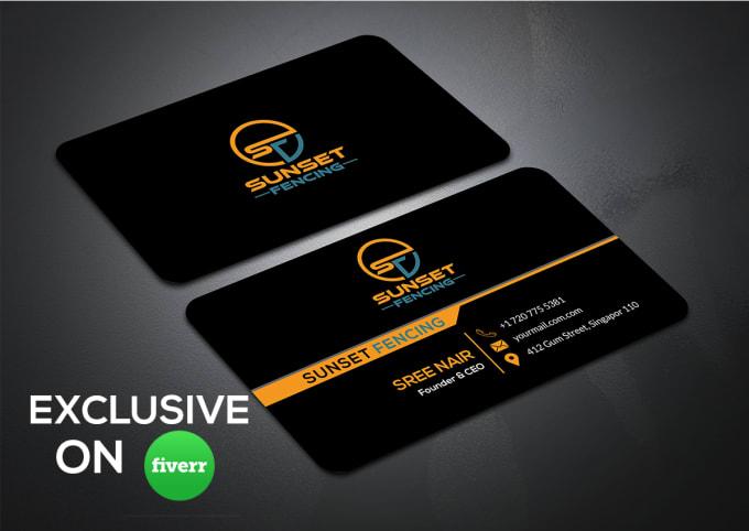 I will design unique minimalist business cards