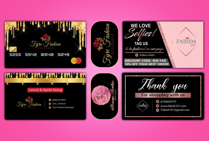 I will do luxury business card,  thank you card and logo design