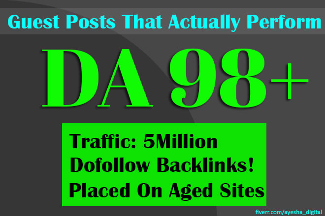 fabricate Website design enhancement backlinks through high da visitor posts high position ex