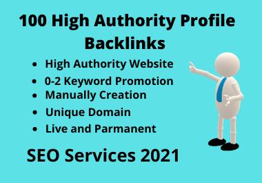 Create Manually High Authority and Do Follow SEO Profile Backlinks