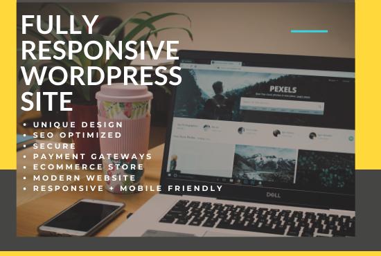 I will design and develop a modern responsive wordpress website