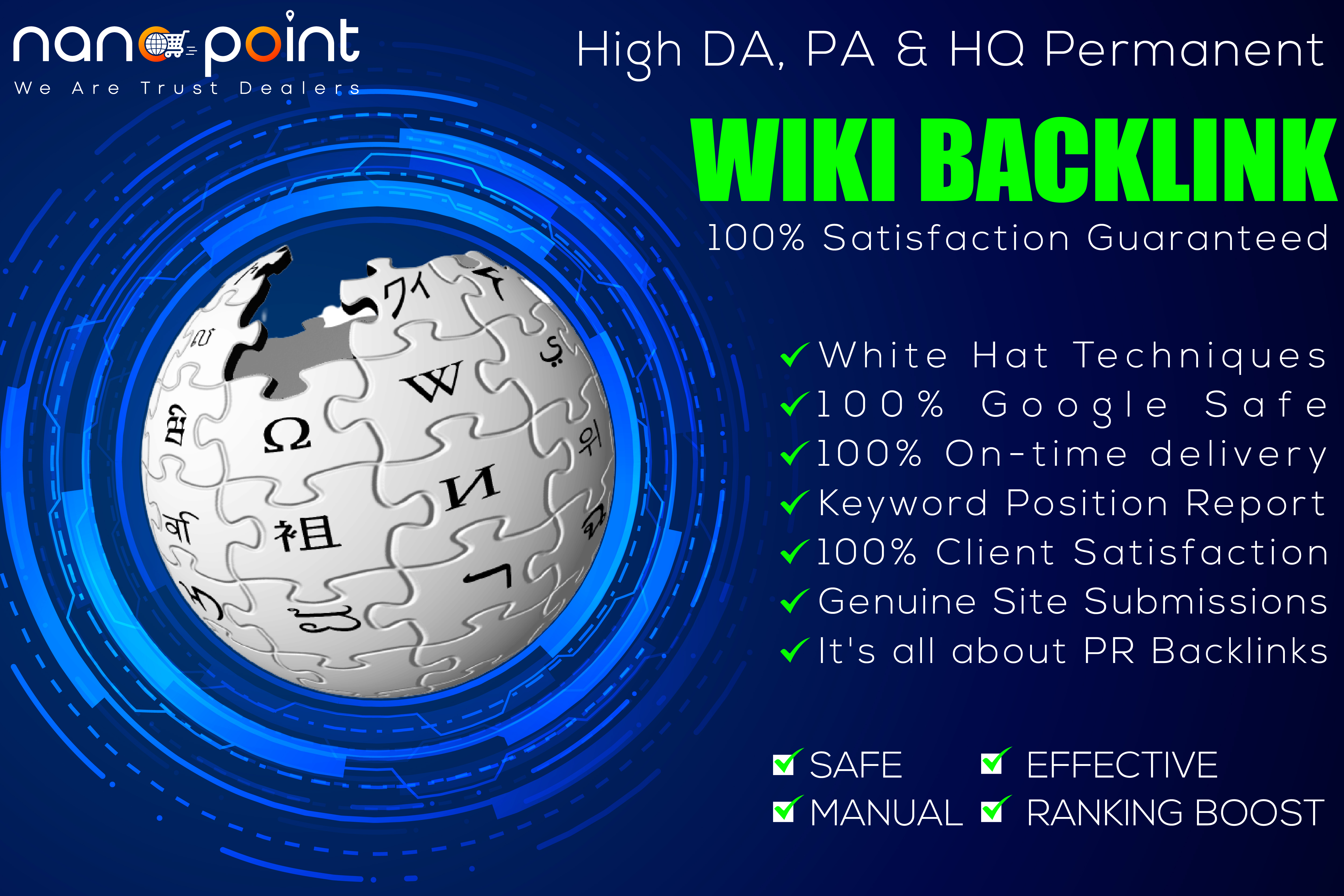 1000 Most Powerful Niche Relevant Wiki SEO Backlink for fast Ranking
