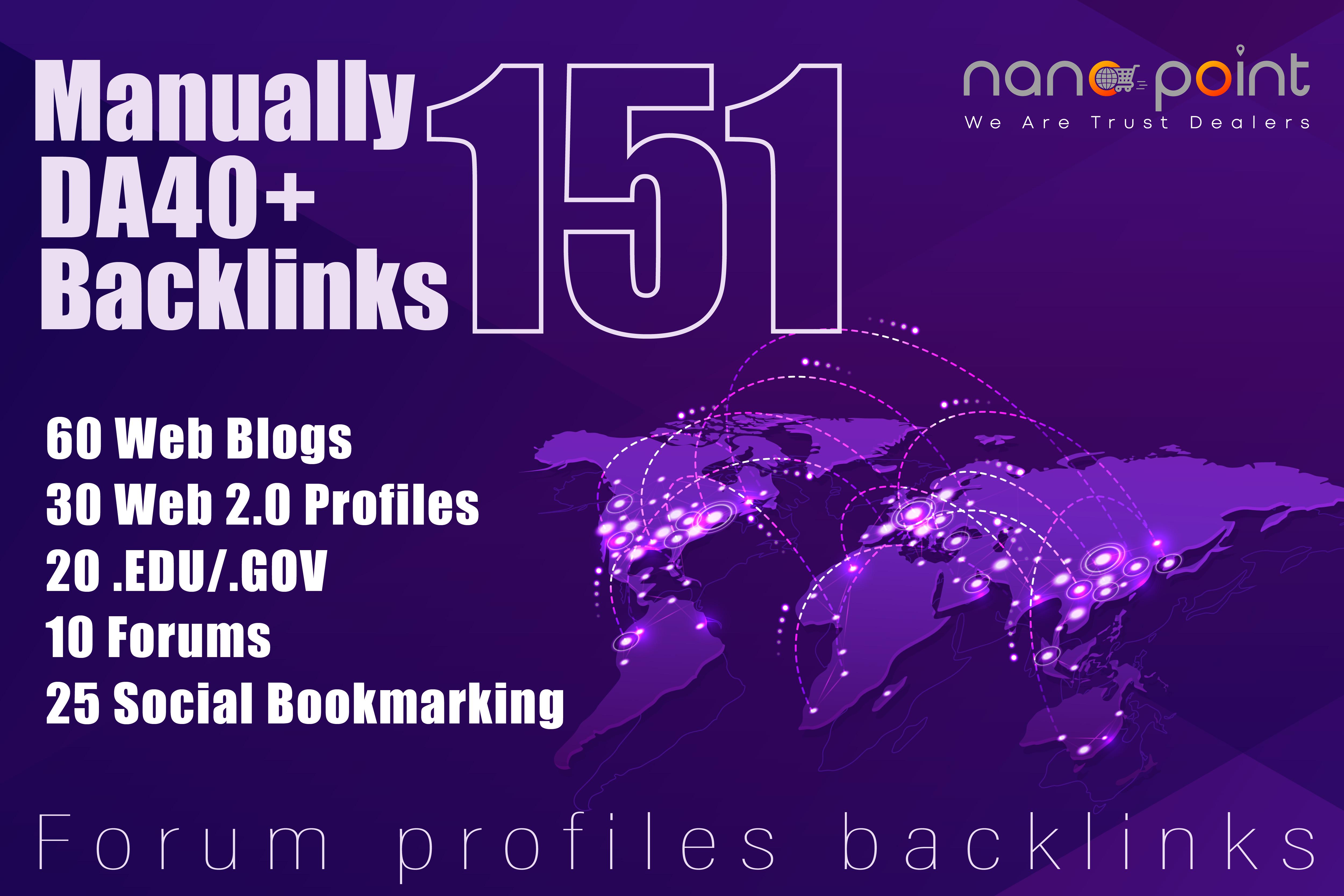 Create 151 High Authority Forum, Gov & Edu Mixed Profile Backlinks