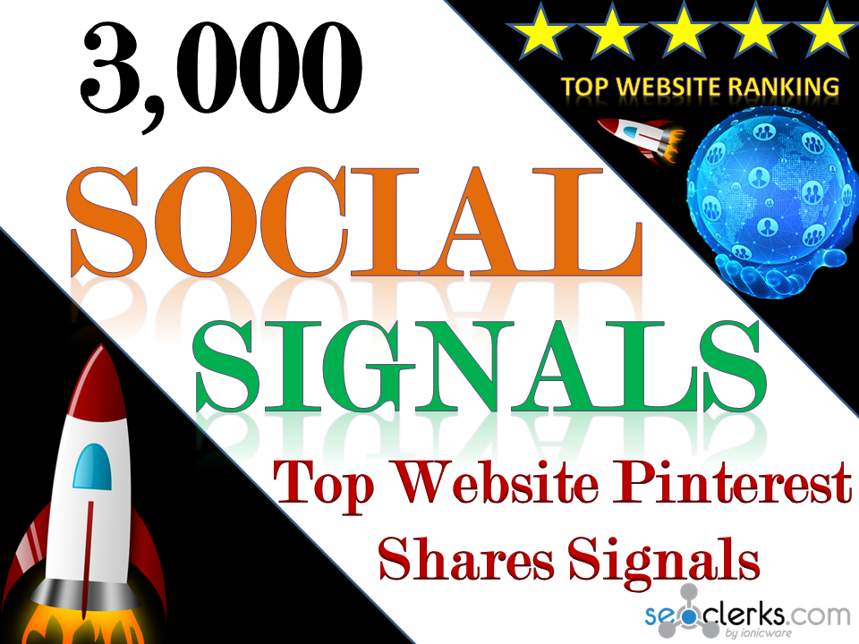 Build Organic Powerful 3,000 Social Signals for Top Social Media Sites to boost your website