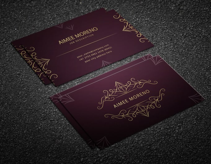 I will do luxury business cards design for you
