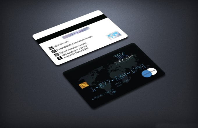 I will design credit card style business card design