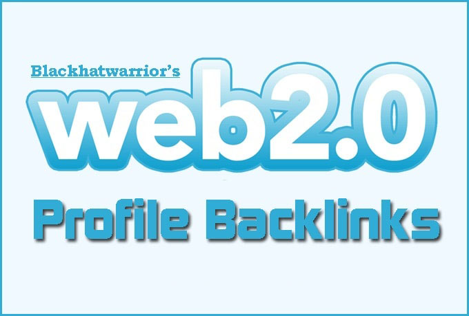 I will create over 150 web 2, 0 profile backlinks on high da sites