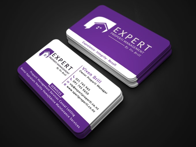 I will design minimal and luxury business card