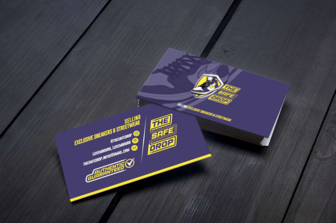 I will make a business card for your footwear or sneaker store