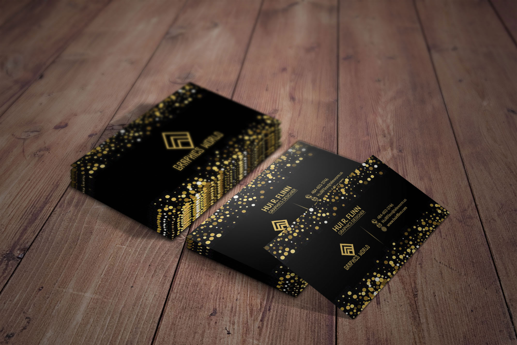 I will professional luxury business card