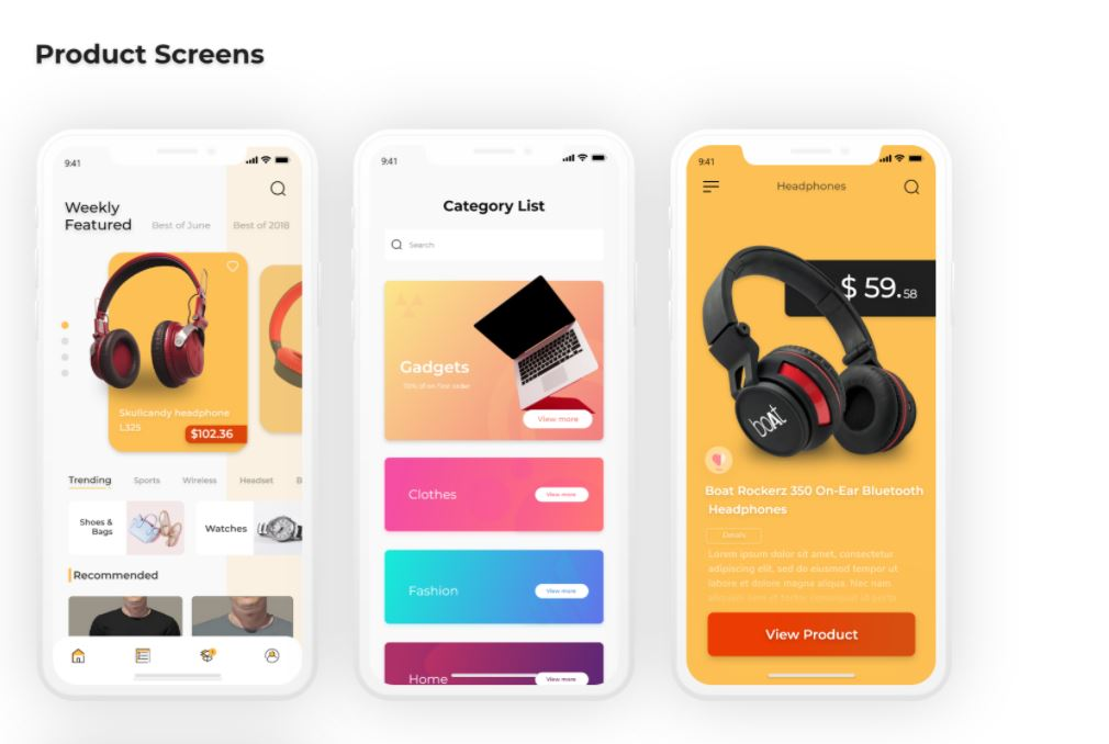 Flutter ecommerce template for both android and ios