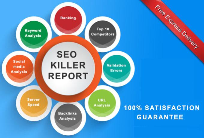 I will create professional SEO analysis report