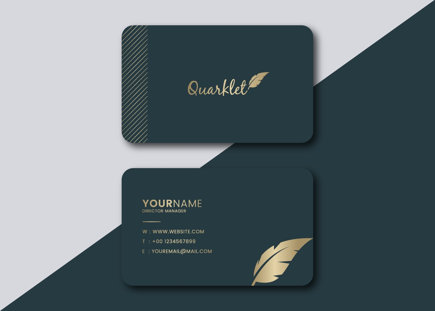 I will do minimalist business card design for you