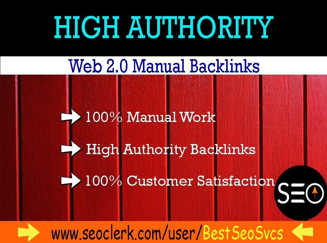 I will build high authority super web 2 0 backlinks