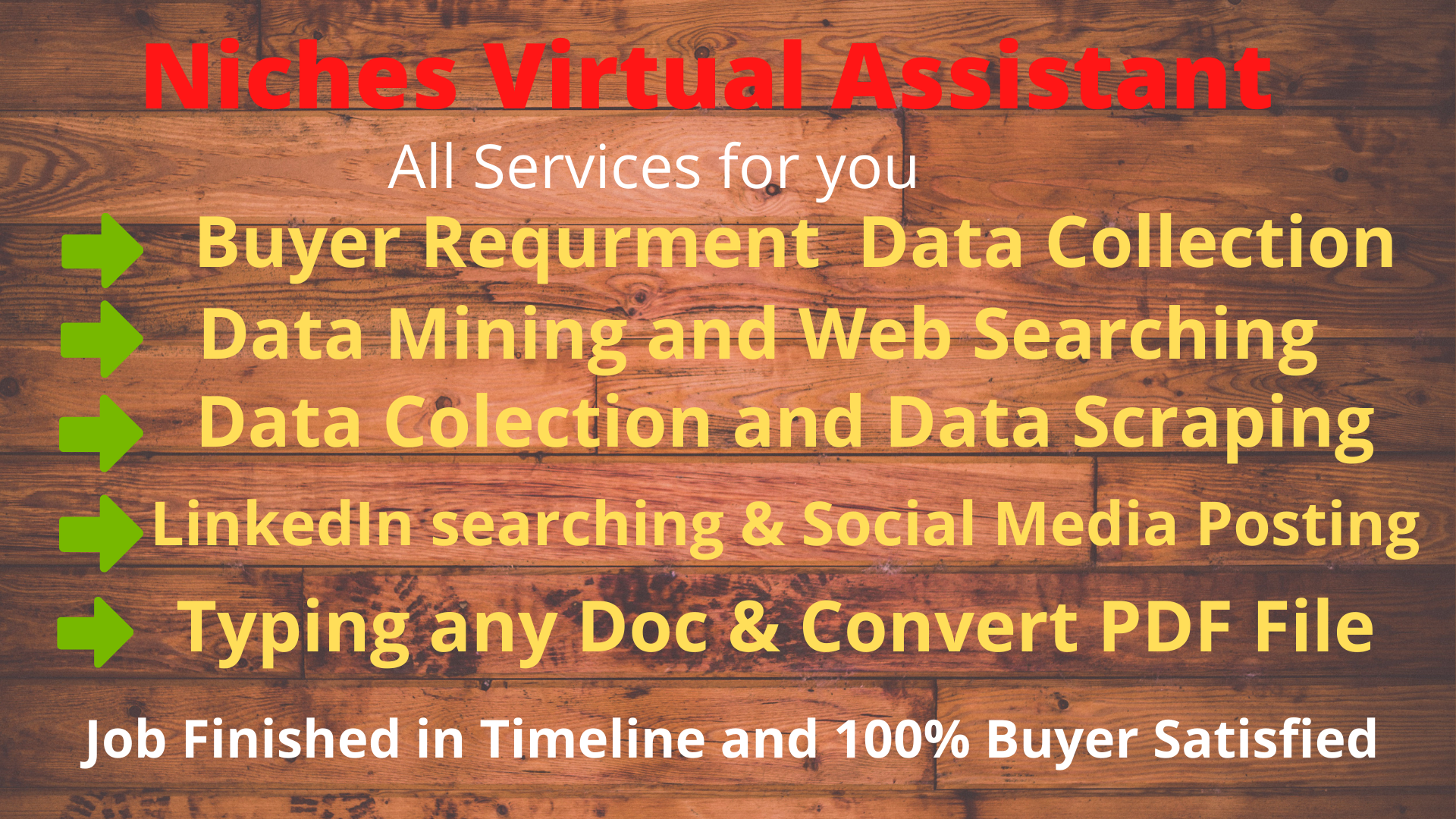 Virtual Assistant and LinkedIn Searching