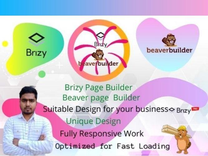 Build modern responsive wordpress website using brizy builder or beaver builder