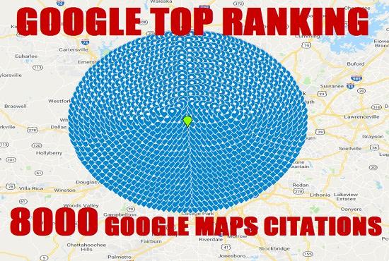 I will create manually 8000 google map citations for local SEO