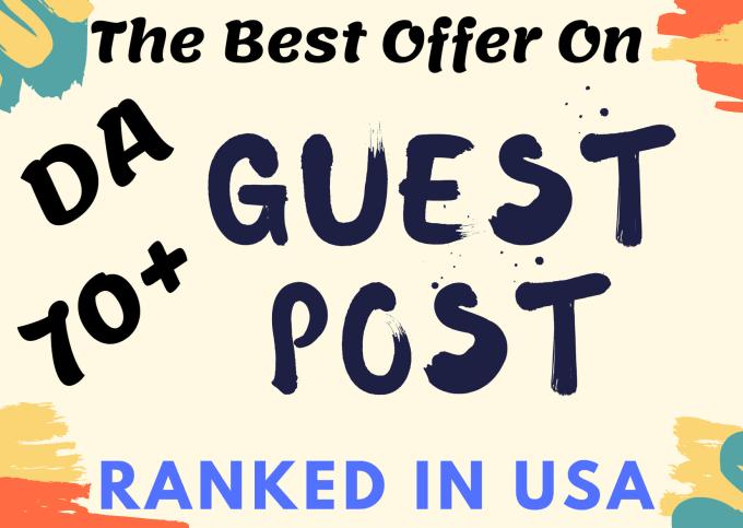 I will create guest post on da 70 real traffic blog