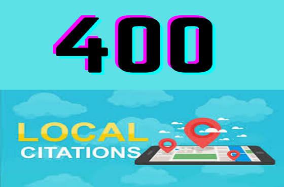 I will do 400 USA local citations for local seo