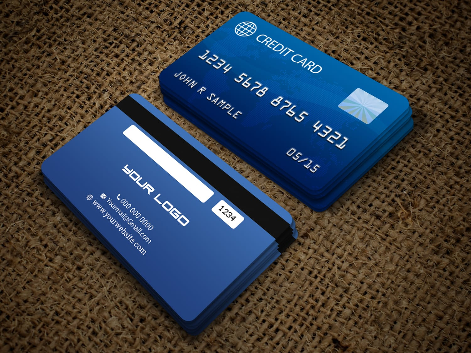 I will do credit card style business card design