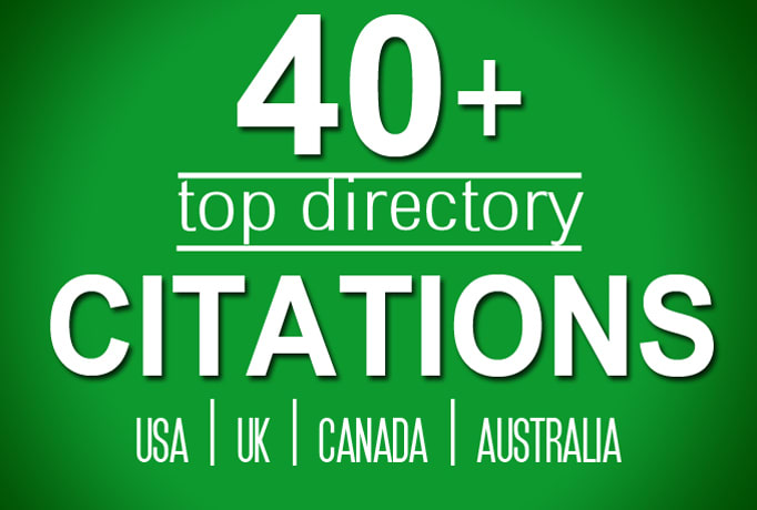 I will build 40 directory citations for usa,  uk,  canada local listing business