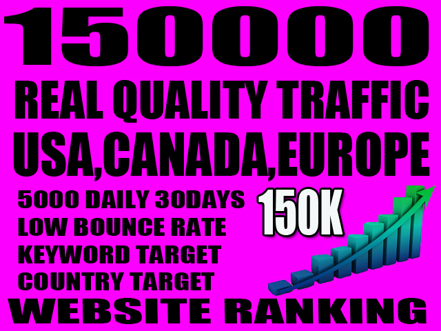 I will send real visitors traffic from USA, canada, europe