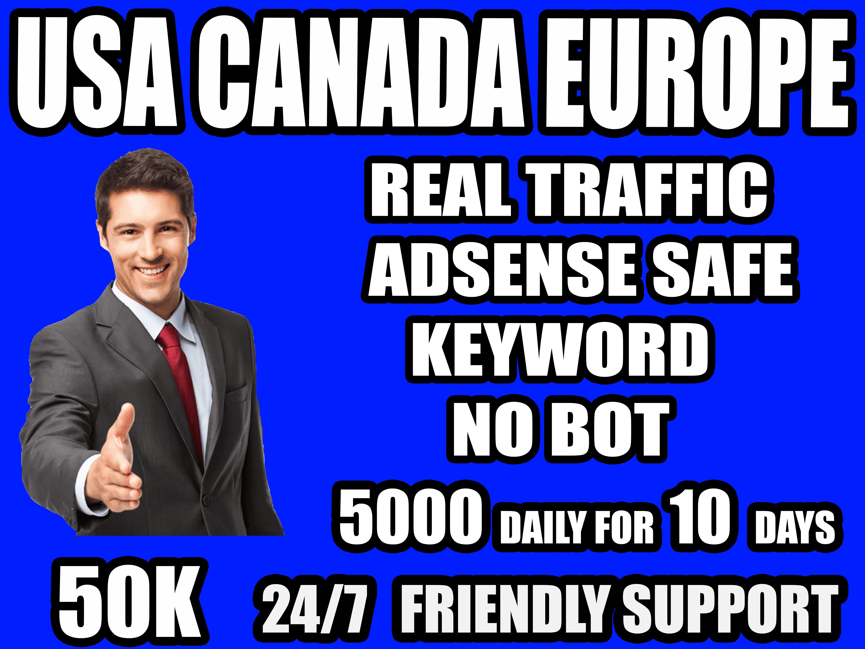 I will send organic 50k keyword targeted traffic
