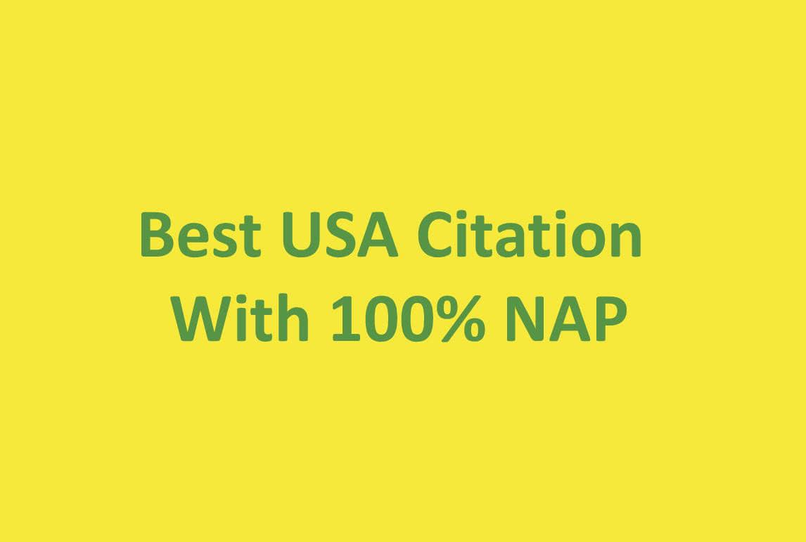 I will do best USA citation with nap listing