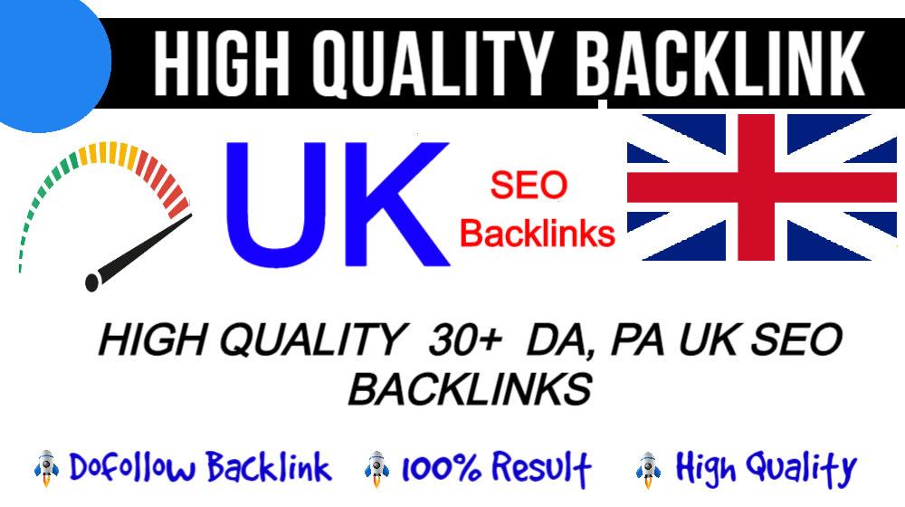 I will make 21 permanent UK backlinks with high da sites
