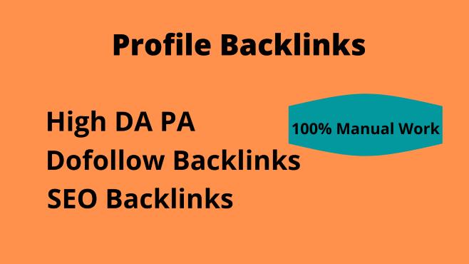 70 high domain authority SEO dofollow profile backlinks