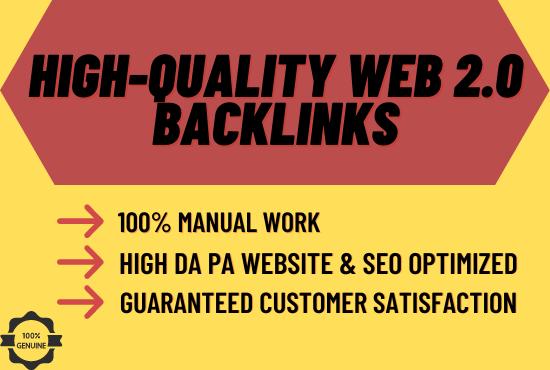Create 70 High Quality Web 2.0 Profile Backlinks for Homepage SEO
