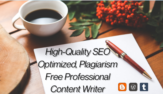 Do Professional High Quality SEO Friendly Article,  blog and content Writing