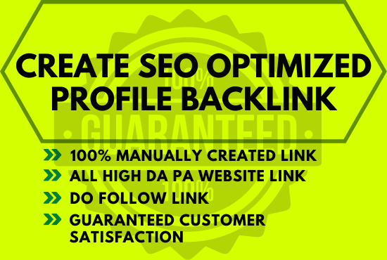 Create 70 High Quality DA, PA SEO Profile Backlinks Manually