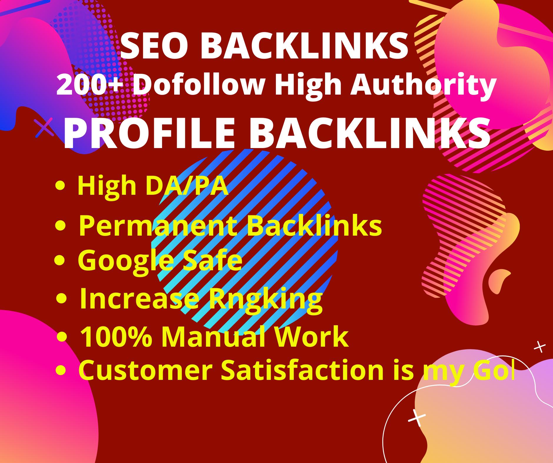 70 Create High Quality DA/PA SEO Profile Backlinks Manually