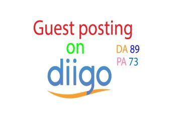 I will write and published Diigo. com