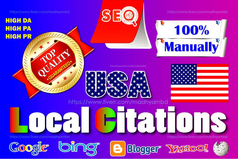 I will build top USA local citations